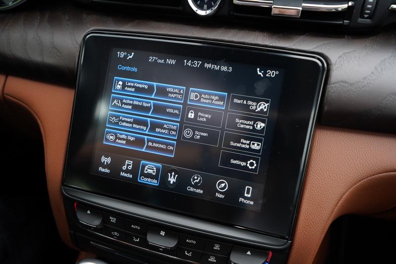 2020年式的Quattroporte Veloce+標配有ADAS先進駕駛輔助系統