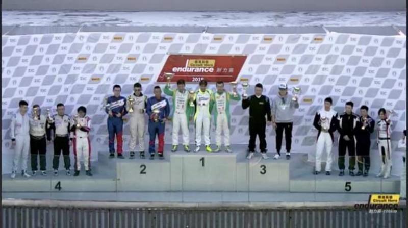 Iris艾莉絲為C組頒獎台上唯一台灣車手,也是頒獎台上唯一的女車手。