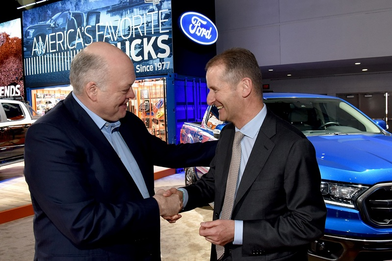 Ford 與Volkswagen於北美車展簽署聯盟合作。