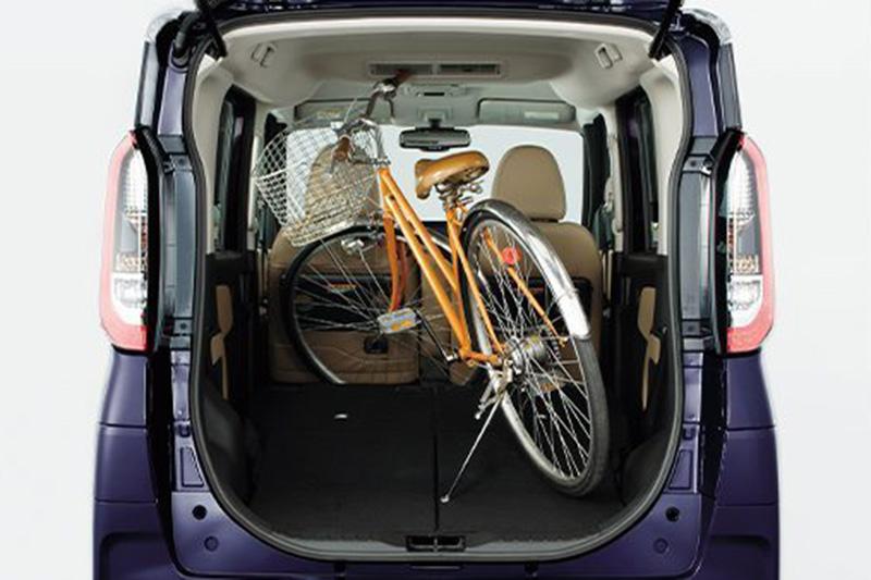 後座完全翻倒還可裝載27吋大的腳踏車