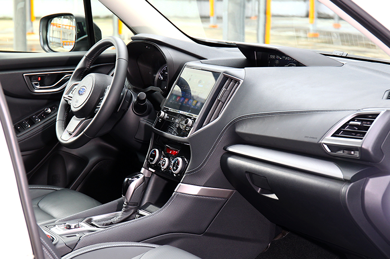 Forester GT Edition於座艙並無配置相關飾板,但整體規劃具有一定質感水準。