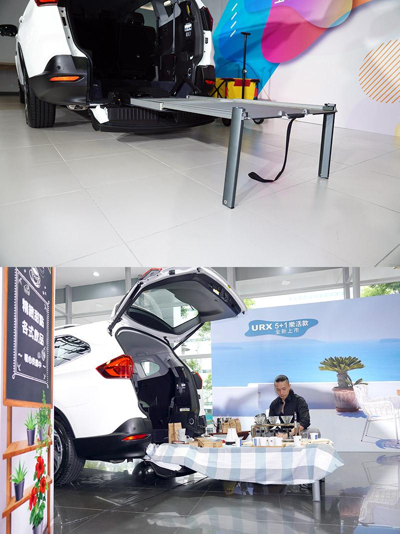 便利伸縮式斜坡板還可增選配尾端支架,讓便利伸縮式斜坡板成為低平台,可演變成野餐桌等功能。