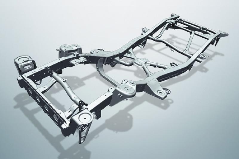 新Jimny仍採大樑式底盤設計。