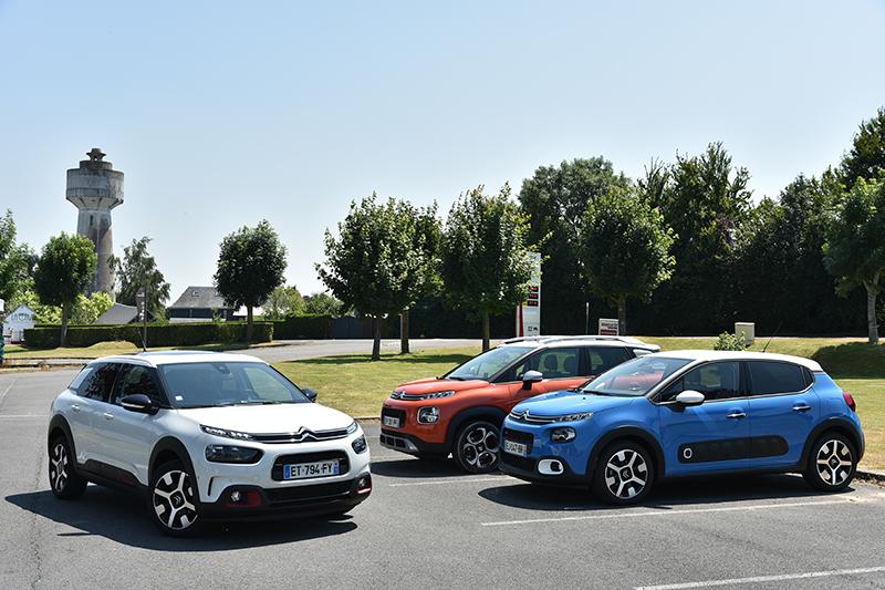 本次海外試駕的三輛車從左到右分別是C4 Cactus、C3 Aircross以及C3,日後都將會以專文介紹。