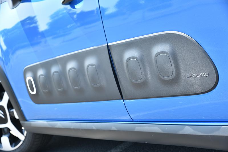 Airbump不僅是造型,也能減少開啟車門時的碰撞損傷。