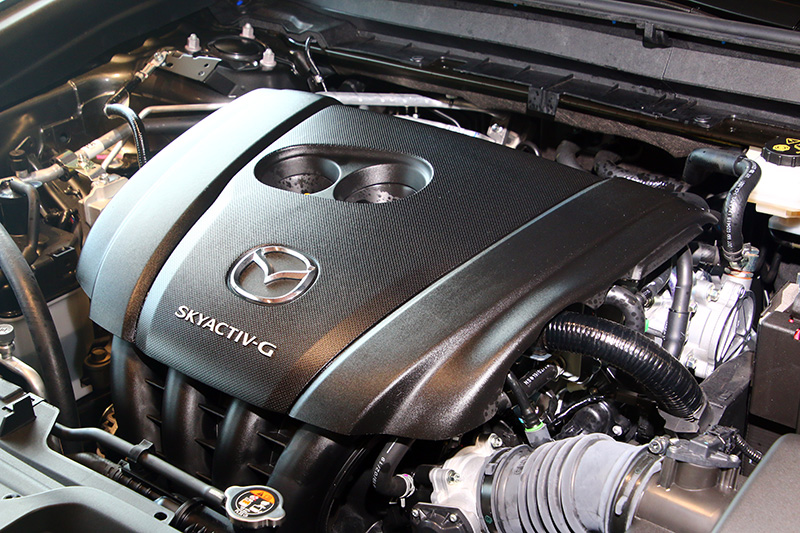 展示車輛搭載與Mazda3相同的2.0升Skyactiv-G汽油引擎。