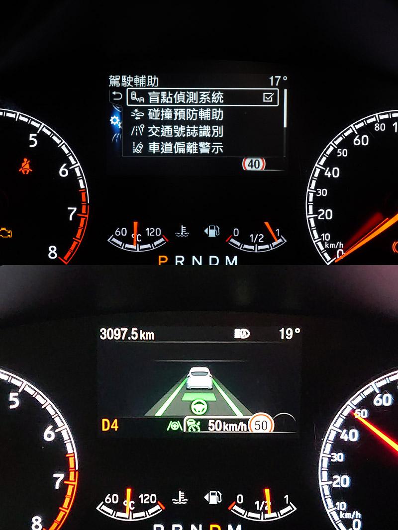 Focus ST一樣配置完整地Ford Co-Pilot 360TM Technology全方位智駕領航科技,同時iACC智慧型定速巡航調節系統結合TSR道路標誌識別輔助系統與導航圖資,協助駕駛者調節定速系統至該路段速限。