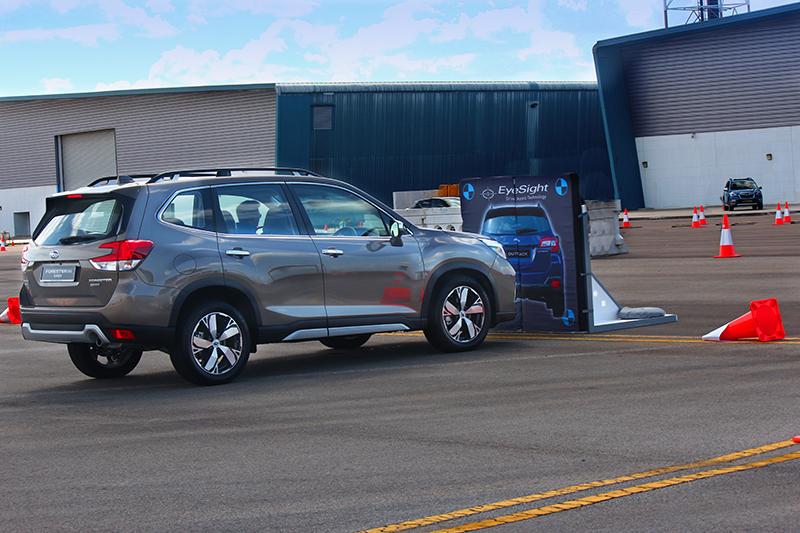 未來Subaru將持續推廣EyeSight,於本次試駕活動亦安排體驗主動煞停功能。