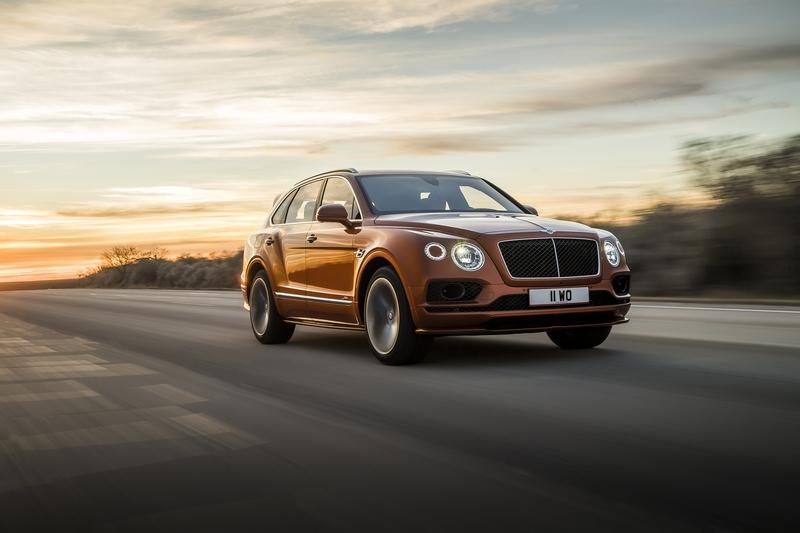 Bentley Bentayga Speed搭載6.0升W12渦輪引擎,最大動力626hp/91.7kgm。