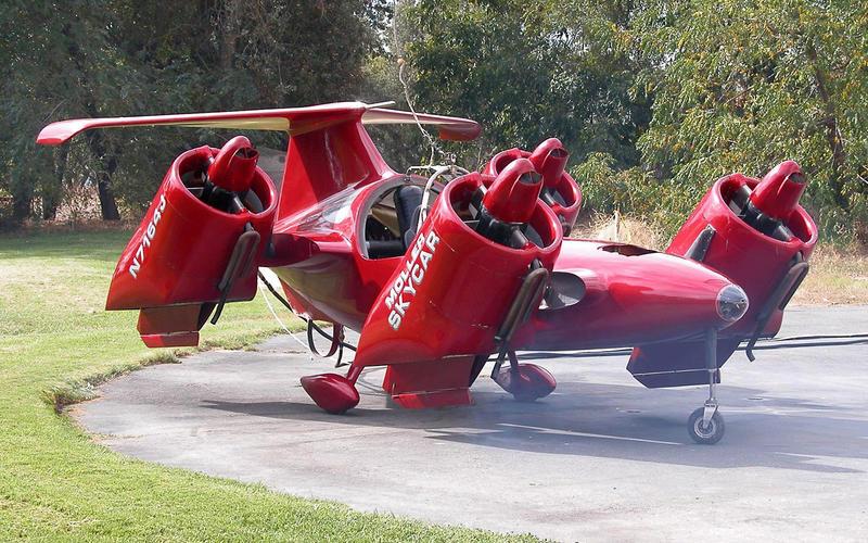 Moller Sky Car M400可以垂直起降,但這是飛機吧。