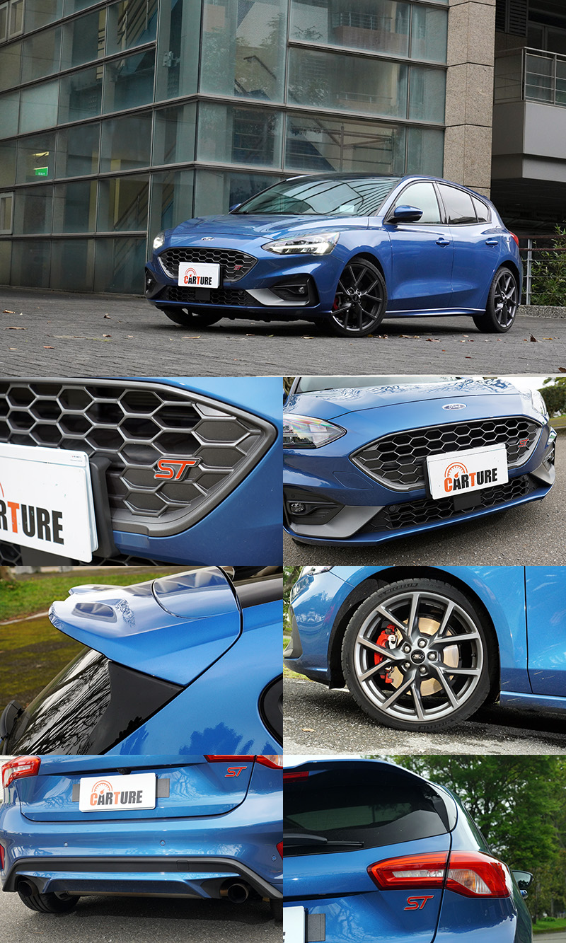 其實單就外型,Focus ST仍有著歐洲高性能車的低調感,不仔細看銘牌與細節差異,並不特別容易辨識。