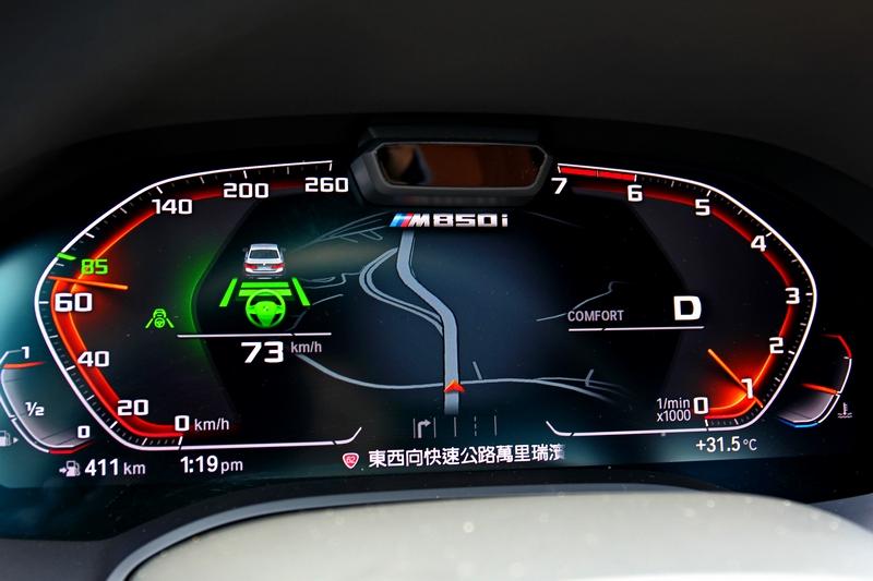 許多資訊都能在12.3吋數位儀表上讀取,當然好用又自然的半自動駕駛狀態也是在此觀看。