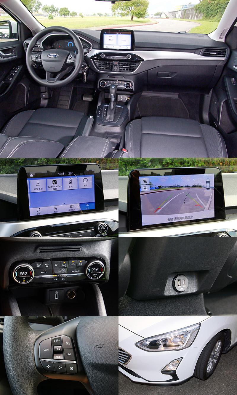 包括:支援Apple CarPlay®1與Android AutoTM2智慧手機連結功能、倒車顯影系統、雙區恆溫空調與活性碳車內粉塵過濾器、後座充電座(Type A & Type C)、定速系統與轉向輔助燈等都為標準配備。