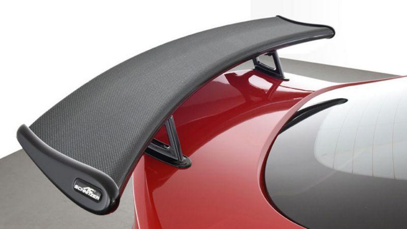 碳纖維尾翼是必改的部分。