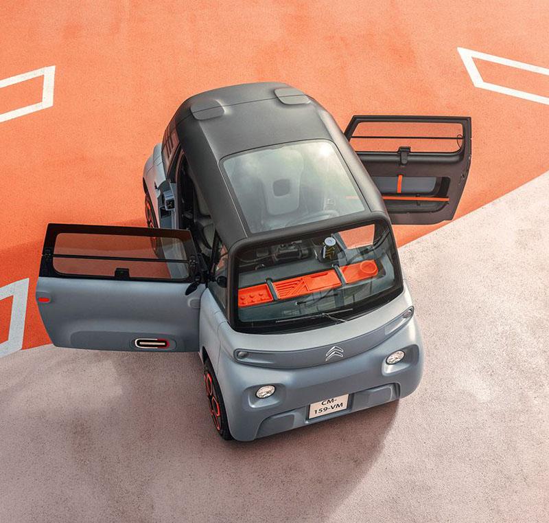 Citroen Ami採用左右不對稱前後對開的車門