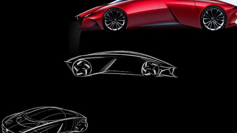 這款跑車命名為Mazda 9,並且採用轉子引擎與電動馬達的油電動力系統。