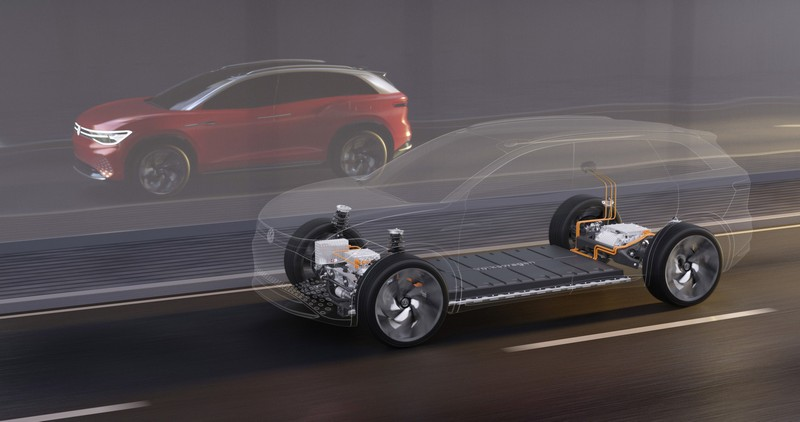 ID. Roomzz在兩具電動馬達驅動下擁有306hp最大馬力及450公里行駛里程。