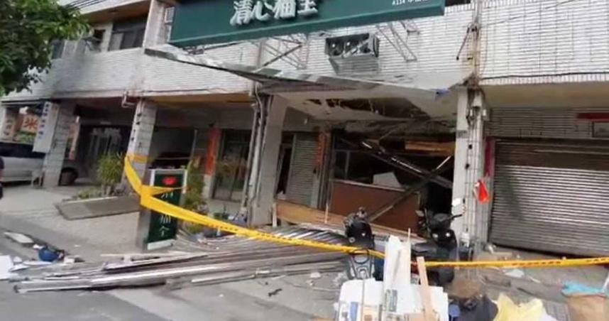 彰化田尾飲料店清晨氣爆!威力驚人鐵門被炸開花 6民宅玻璃遭震碎