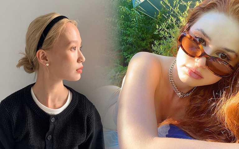 薄透底妝是換季時刻的轉換化妝型態,還給肌膚喘息的空間。(圖/shibasaaki IG,madelame IG)