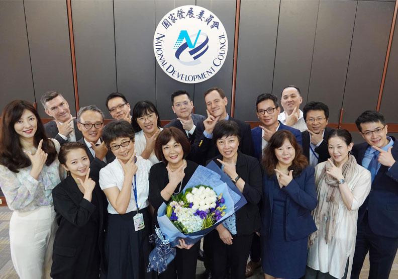 國發會主委陳美伶今(19)日接見美國商會。