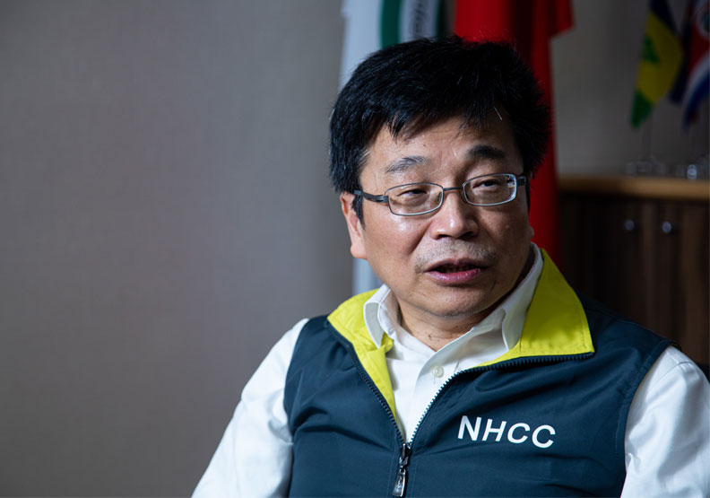 疾病管制署署長、中央流行疫情指揮中心擔任疫情監測組長周志浩。池孟諭攝