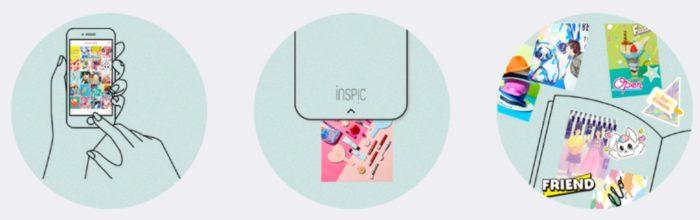 Canon iNSPiC 隨身印貼紙機使用方式