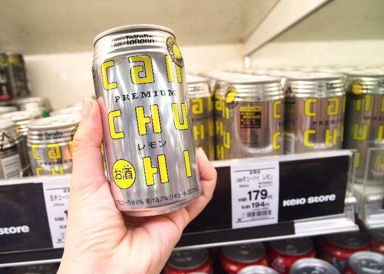 寶酒造TaKaRa can CHU-HI 檸檬口味 350ml 179日圓(未含稅價格)