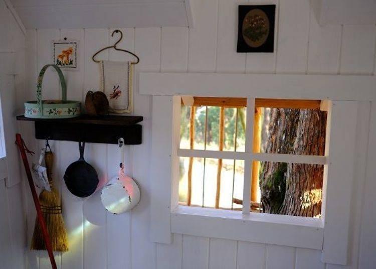 ▲裝潢相當可愛的森林小木屋,很想試試在這裡過上悠哉舒適的一天呢