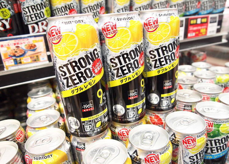 -196℃ STRONG ZERO 檸檬口味 500ml 168日圓(未含稅價格)