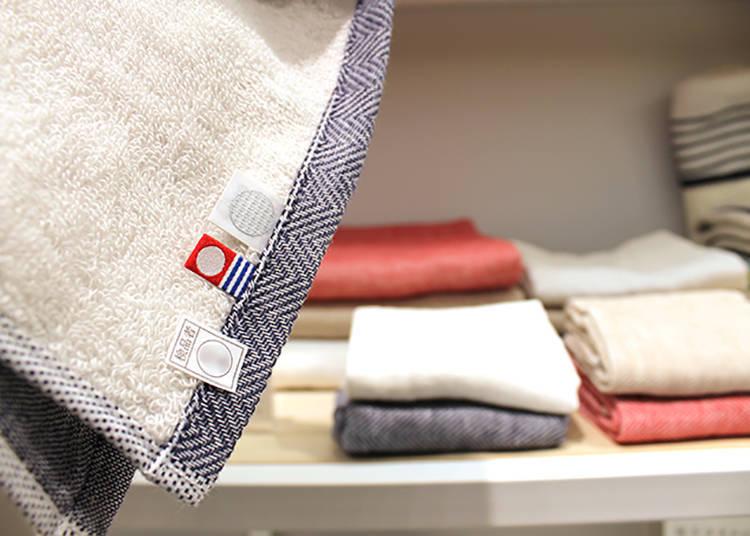 「umi」方巾864日圓、長巾1,404日圓、浴巾3,780日圓(皆為含稅價)