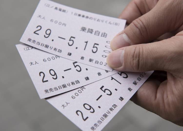 1日車票「NORIORIKUN」可在自動售票機購買
