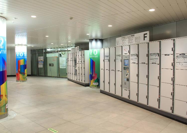在東急電鐵、東京Metro的道玄坂剪票口附近的地下一樓兩個地方、地下二樓四個地方分別設有置物櫃。