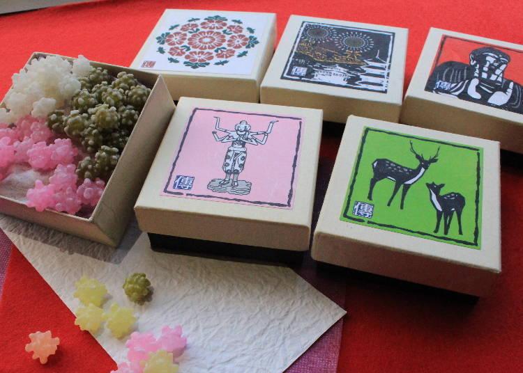「奈良Confeito」(盒裝540日圓,袋裝432日圓,皆為含稅價)