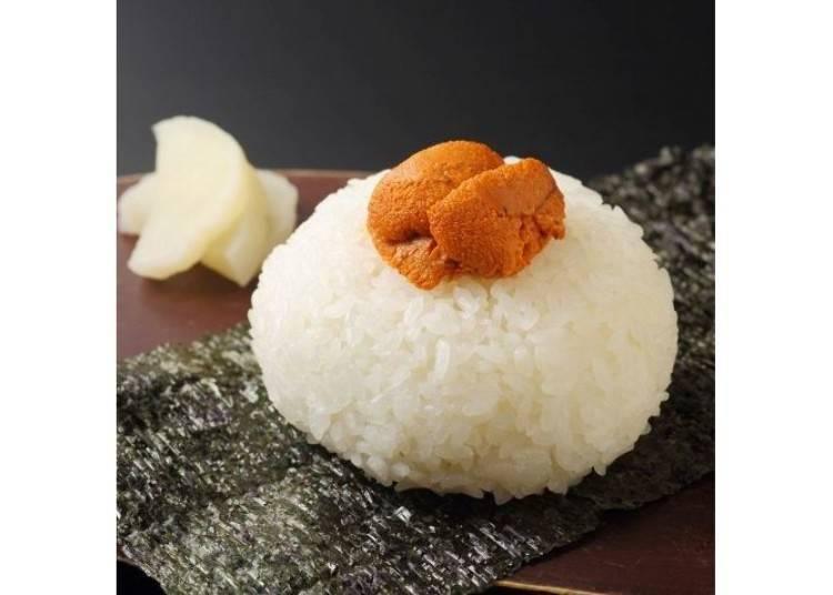 奢侈無比的飯糰「海膽飯糰」。