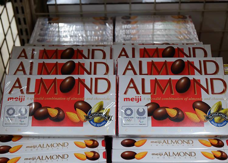 meiji ALMOND巧克力 ( 84g) 參考售價 189日圓(含稅)