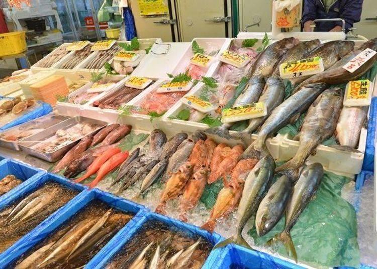 ▲人生第一次見到叫做「Kinkin(キンキン)」的稀有魚品種與部位