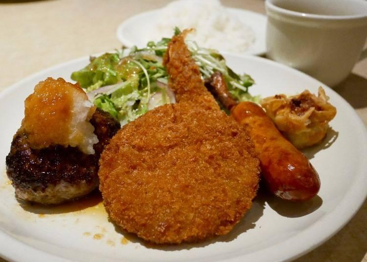午間特餐炸物拼盤套餐(盛り合わせランチプレート)900日圓(含稅)
