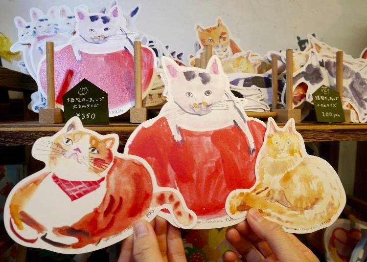 萌貓造型卡片 / 350日圓