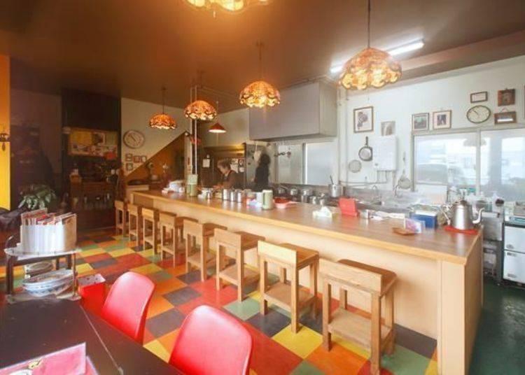 ▲開放式廚房,所以可以從吧檯座位看到料理製作的過程