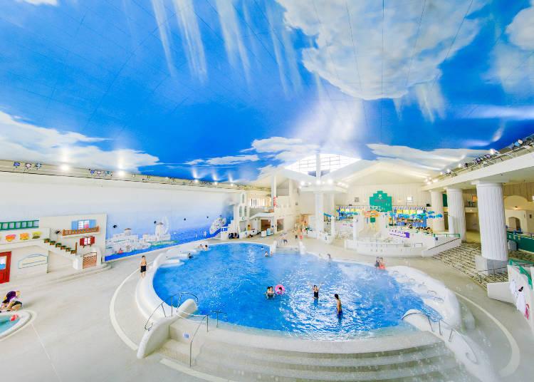 在箱根能夠穿著泳衣入浴的溫泉、SPA恐怕就只有YUNESSUN了!