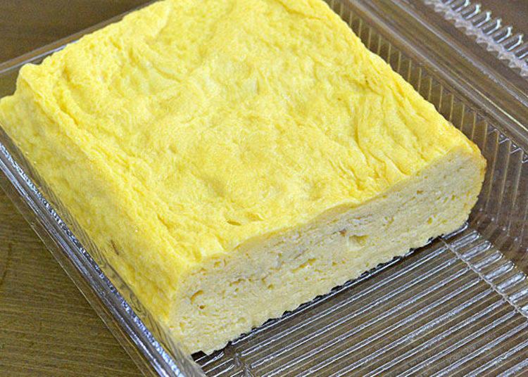 ▲「手工厚煎蛋」(半條300日圓、一條550日圓),還有包起司、香菇等口味