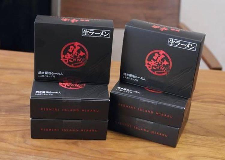 「伴手禮拉麵」(一個一人份,400日圓,僅有燒醬油拉麵口味)