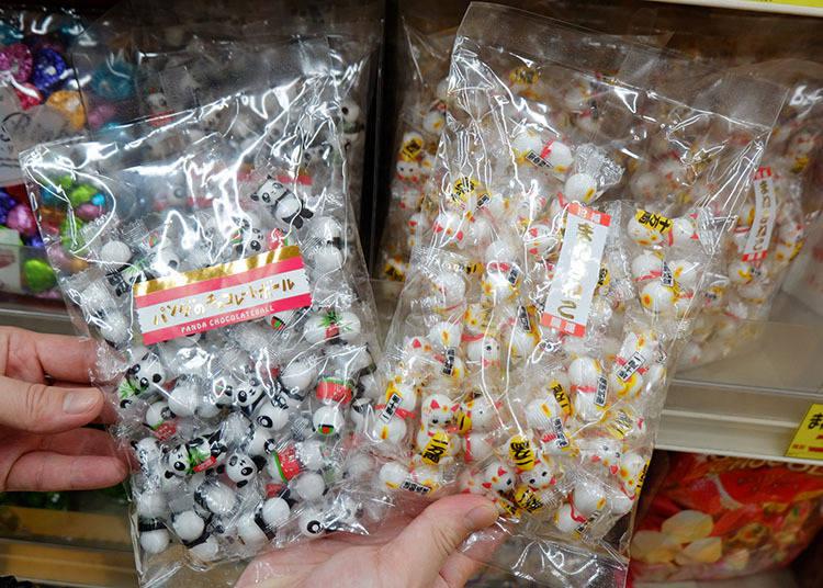 熊貓巧克力糖果(パンダチョコレートボール 170g / 招財貓巧克力糖果球(まねきねこチョコレートボール) 180g 參考售價 467日圓(未含稅)