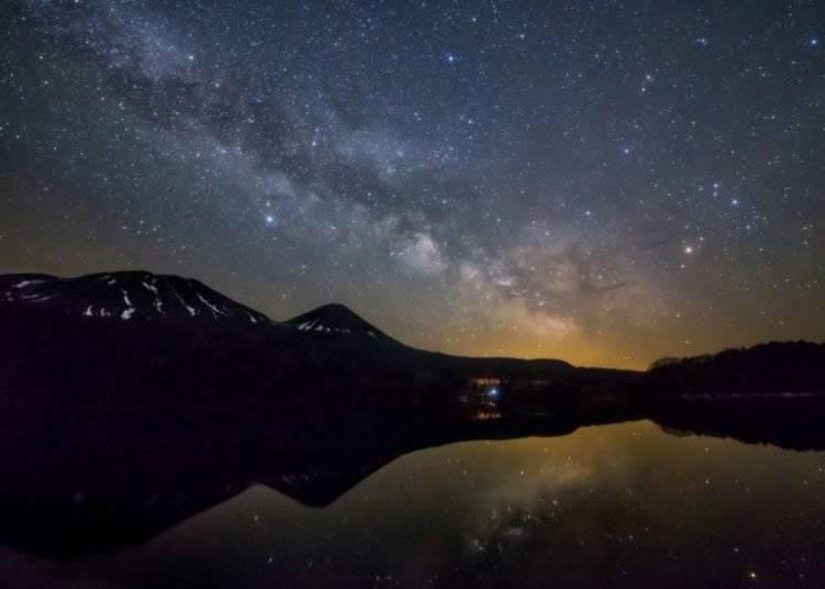 ▲由於四周幾乎沒什麼光害的關係,夜晚能看見無數繁星高掛的璀璨星空/照片提供:Ashoro Tourism Association