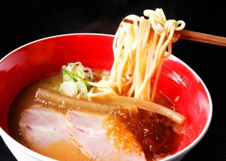 ▲中粗直的多加水麵是為了搭配重口味湯底