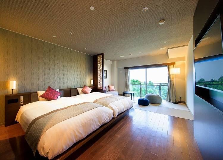 如果想從客房中欣賞富士山的話,推薦各位選擇富士見Premier客房
