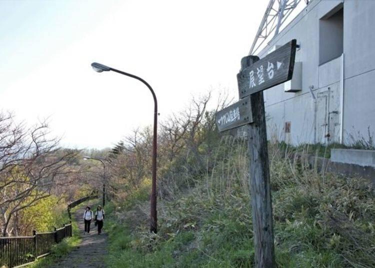 ▲山頂展望台附近的登山步道