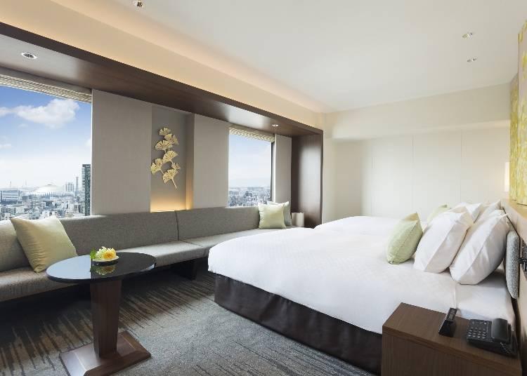 頂級樓層的客房「日航貴賓樓層單床雙人房」