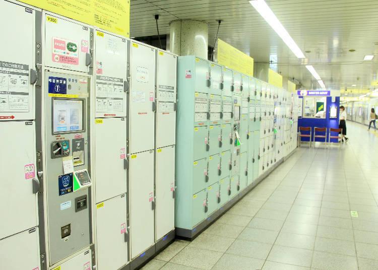 在原宿地區鮮為人知的置物櫃放置場所,設有12個大型尺寸置物櫃。