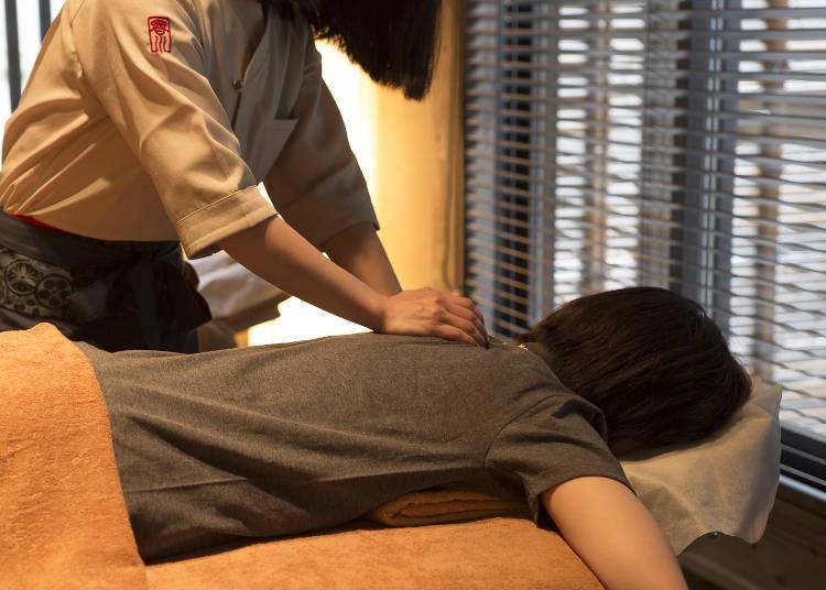 幫助身體放鬆的指壓按摩